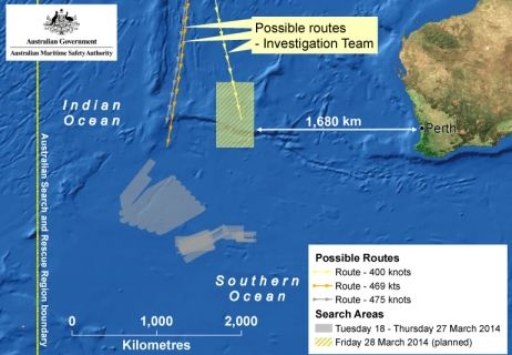 Boeing disparu : la zone de recherche décalée de 1100 km