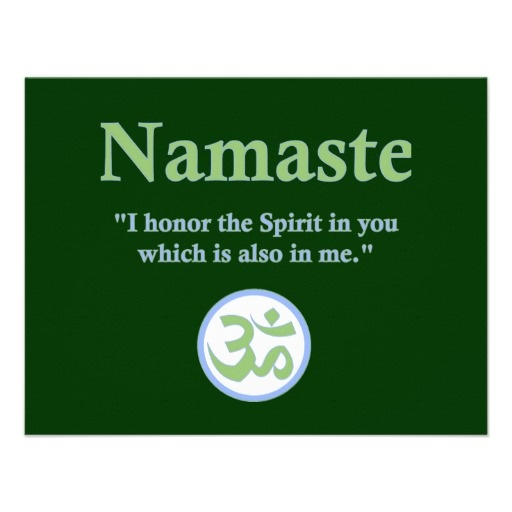 Namaste - with quote and Om symbol Card | Paper, Om and Quotes