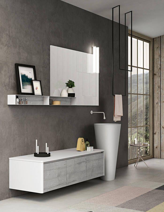 Une salle de bains design qui revisite les meubles destinés au salon