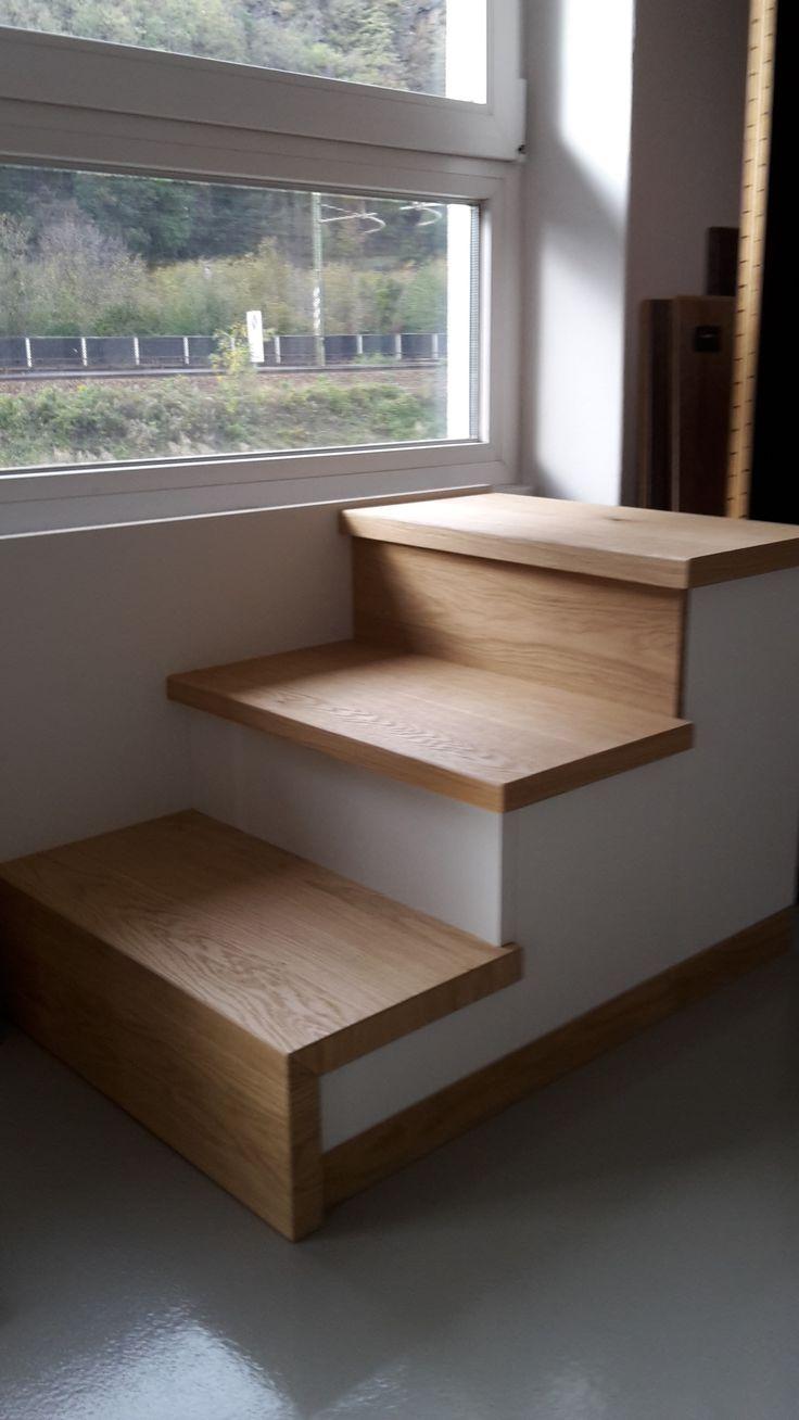 Le varie possibilità di rivestire i #gradini con il #parquet #prefinito, pavimenti in legno e profili in legno #massello
