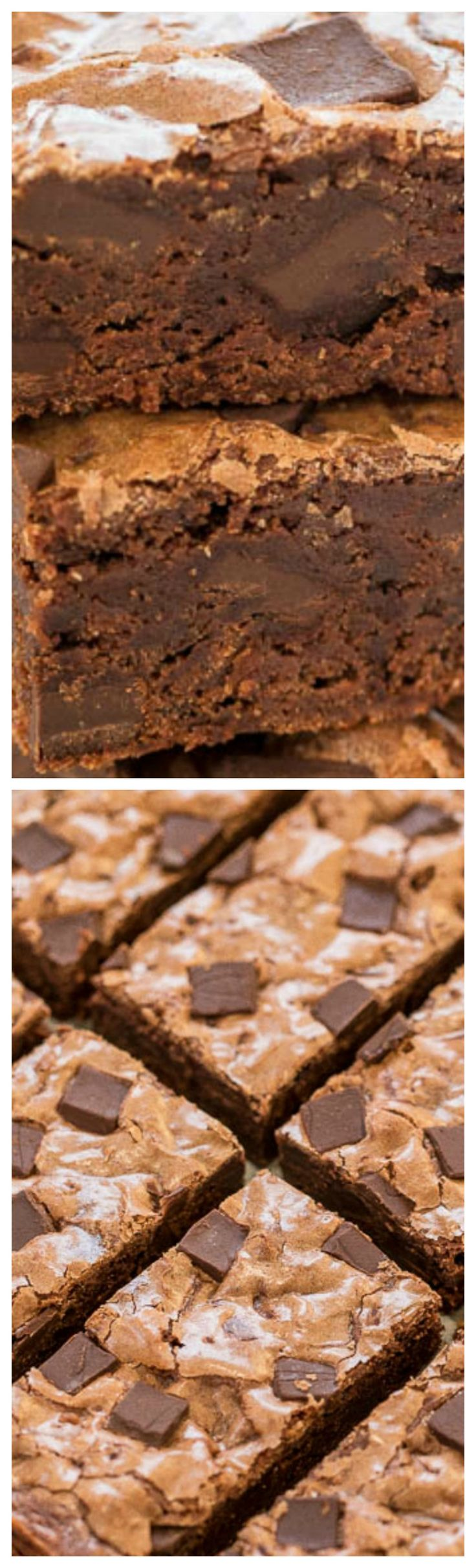 Starbucks Double Chocolate Brownies {Copycat Recipe} ~ Rich, fudgy, not cakey, perfectly chewy, and so easy to make... One bowl, no mixer, and studded with chocolate chunks.