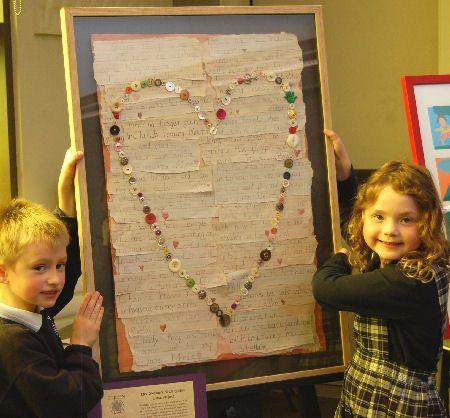 heart messages for silent auction Rules to live by -  written by the kids.