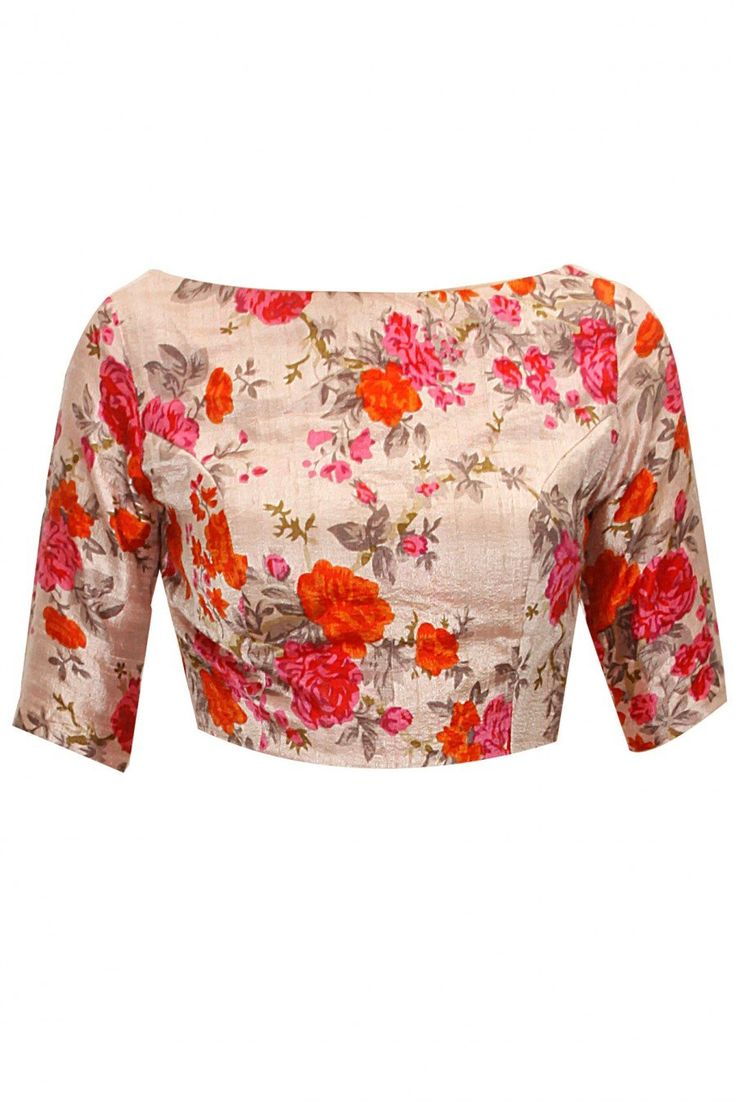 Fabboom New Latest Multi Colour Floral Printed Blouse-only Material