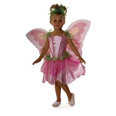 Pink Butterfly Fairy Child Halloween Costume, Girl's, Size: Medium