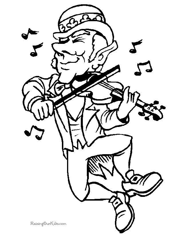 st patricks day coloring pages leprechaun dancing wfiddle coloring pages