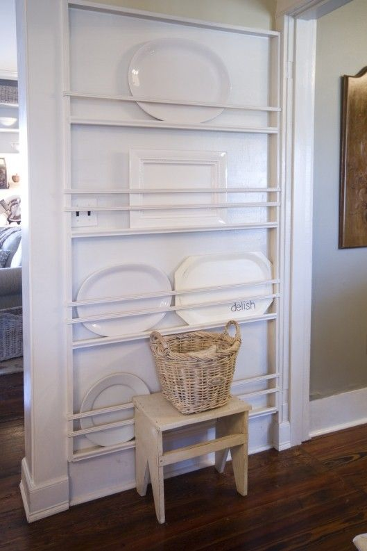 plate racks - could be good on the side of a refrigerator.