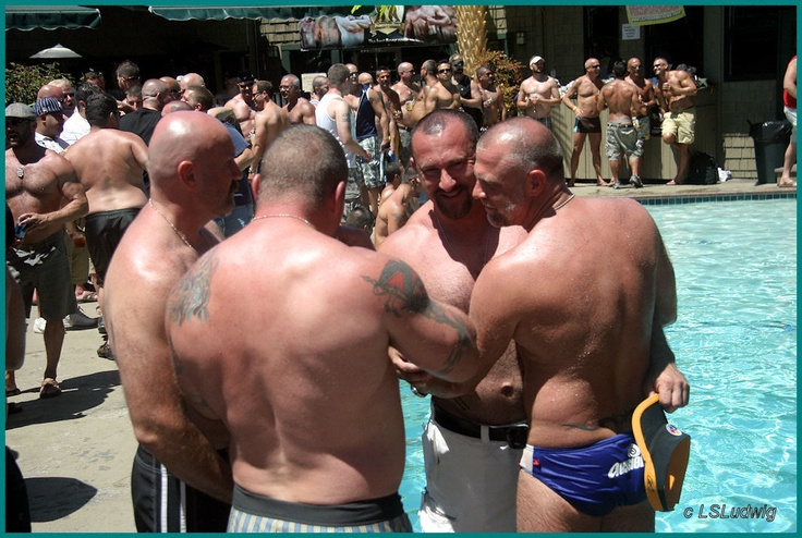 Muscle Bears by the pool | fitness | Muscle bear, Muscle ...