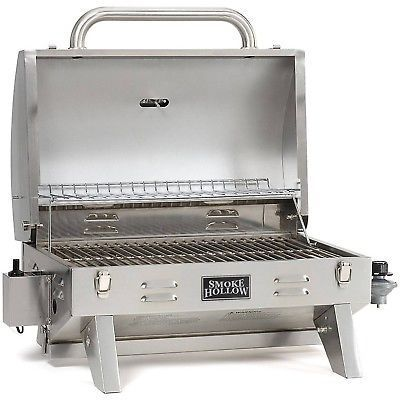 Portable Gas Grill Small Barbecue Picnic Backyard BBQ Propane Stainless Steel Item Conditions: Factory Sealed, Brand NEWPortable Gas Grill Featu