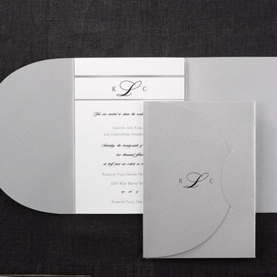 44 best Pocket Wedding Invitations images by Carlson Craft on