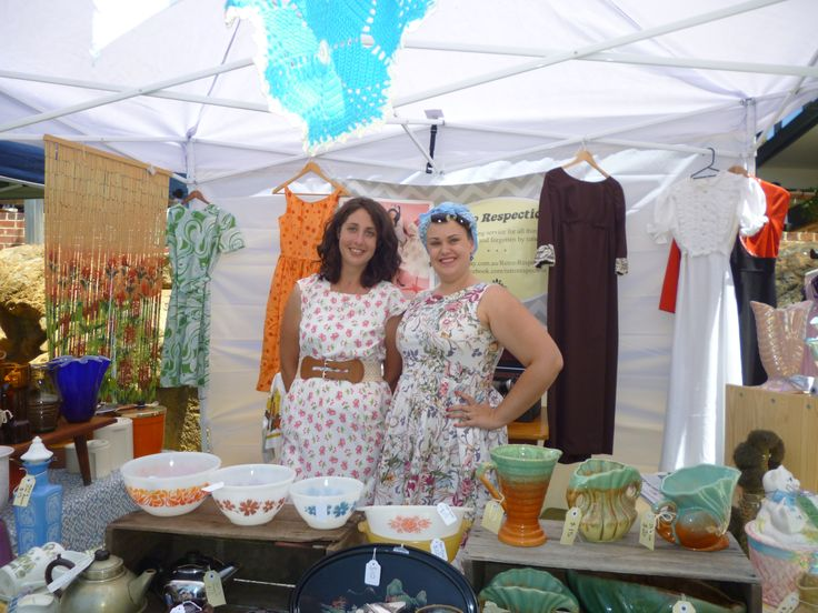 Retro Retrospection Stall with Storm & Joleen. Sou West Vintage Fest 2013