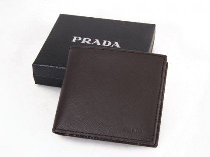 Cheap Prada 2M738 Coffee Short Wallets For Sale | Prada Outlet Store