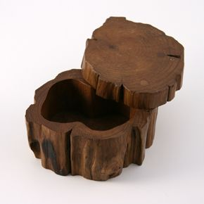 Absolutely adorable!  secret branch box    these tree branches have a secret - their trunks have been hollowed out to create a hiding spot for treasures, notes, coins or jewels. what will you secret away inside?