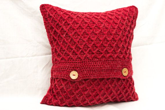 Red Cushion Cover Red Scatter Cushion Cover Red by TorvaigDesigns