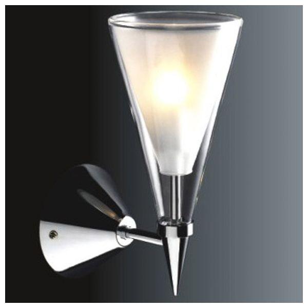 Kinkiet LAMPA ścienna BUTIO MB9190-1A Italux szklana OPRAWA halogenowa kielich biała