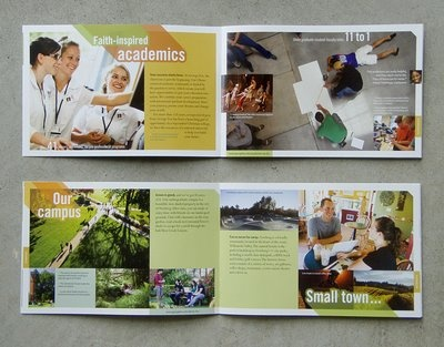 Darryl Brown design and illustration: George Fox University viewbook