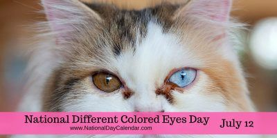 NATIONAL DIFFERENT COLORED EYES DAY – July 12