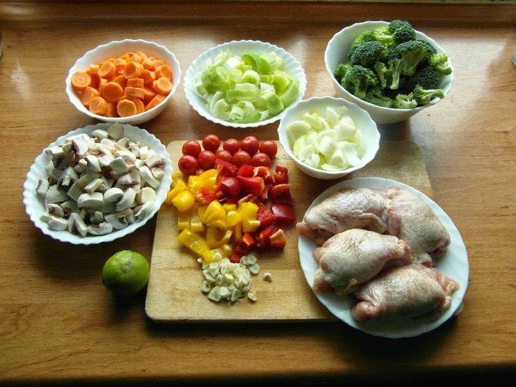 Udka kurczaka pieczone z warzywami - składniki