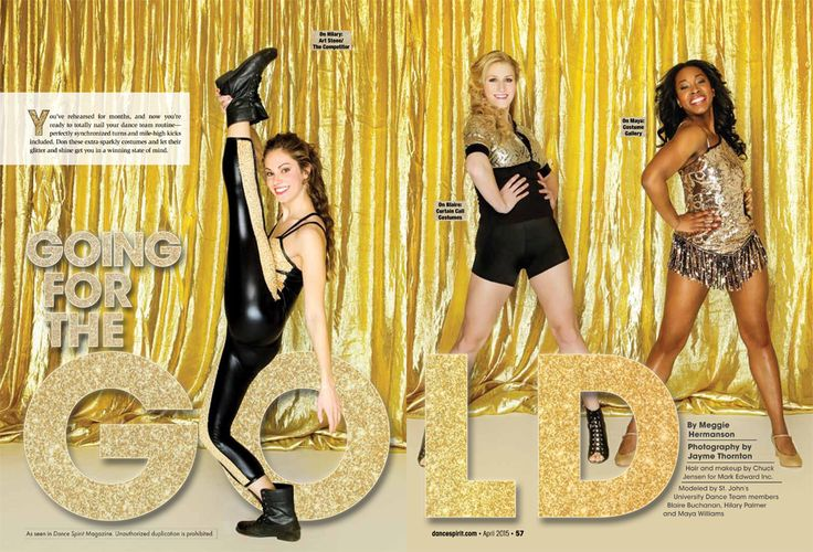 Dress For Dance-team Success In These Shimmery Gold