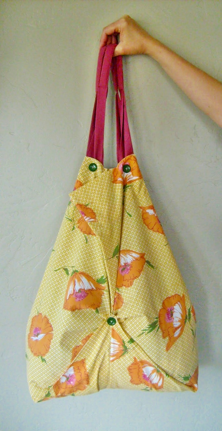 DIY: pillowcase tote bag