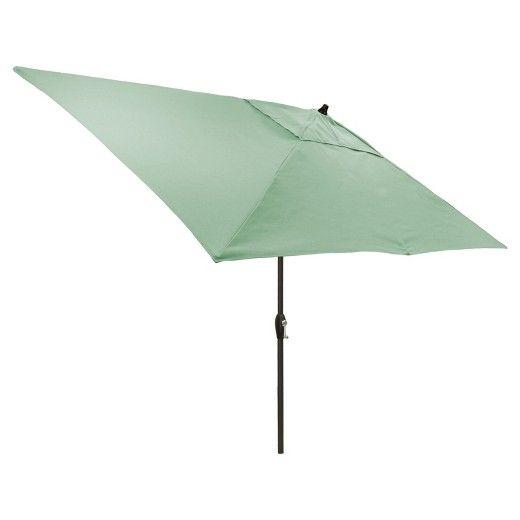 6.5'x10' Rectangular Patio Umbrella Solid - Black Pole - Threshold™ : Target