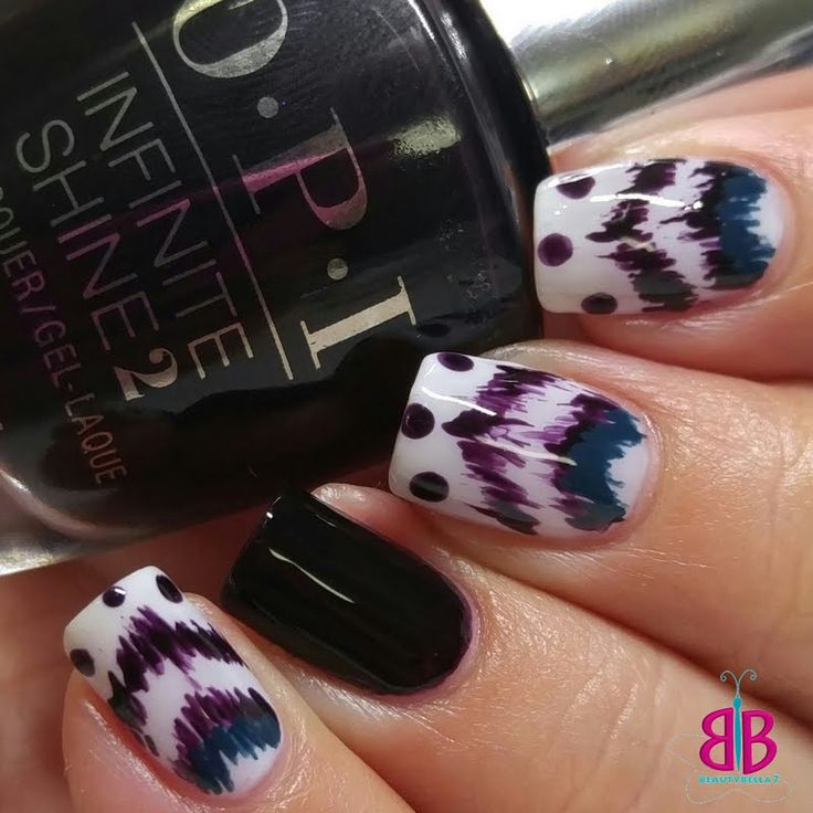 Preen.Me VIP Bellini S designs this Ikat-inspired nail art effortlessly using her gifted OPI #InfiniteShine 2 Icons Nail Lacquer in Lincoln Park After Dark. Dare to be bold by clicking through.