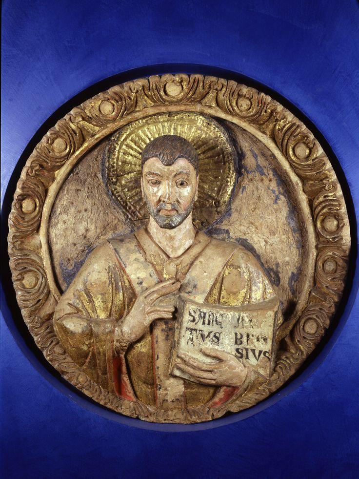 Museo Diocesano_ Sant'Ambrogio benedicente, realizzato da una bottega lombarda della seconda metà del X secolo