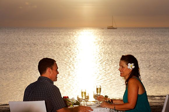 dining at sunset