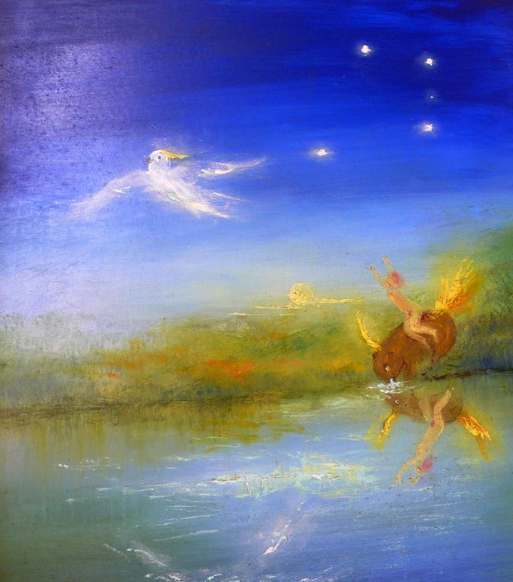 The magical Europa Series by David Boyd.  Oil on board. This painting features both the wombat and the cockatoo, the totems of David and Arthur Boyd.