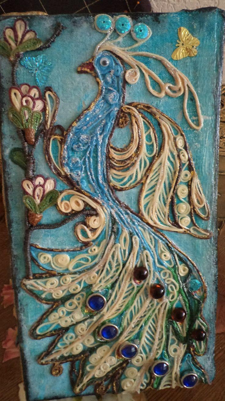 Шкатулка- джутовая филигрань