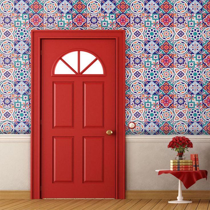 5M Waterproof Mediterranean Tile Wall Sticker Decal Floor Kitchen Bathroom Super