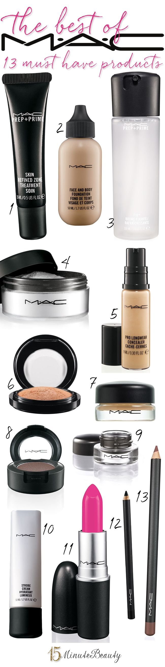 The Best of MAC: The 13 Products You Must Have! via 15MinuteBeauty.com