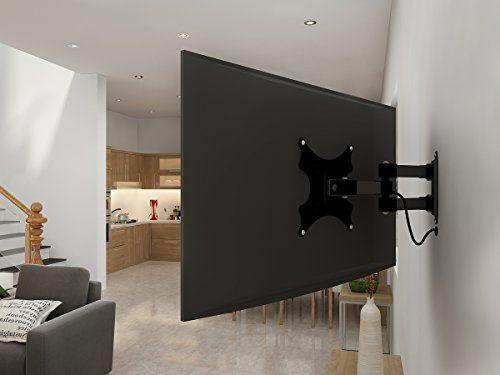 "Yes4All Full Motion Swing Out Tilt and Swivel Articulating Arm LCD LED Plasma TV Wall Mount Bracket for 17 - 37"" TV, VESA 200x200 - ²TUUXZ"