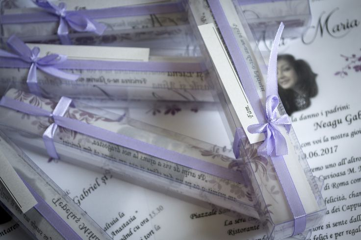 wedding invitation, glass box, purple, lillac, transparency wedding