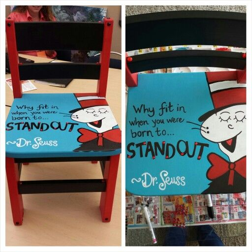 A Dr. Seuss chair I hand painted for a children's center auction.