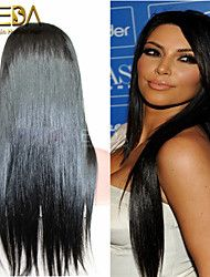 Unprocessed Full lace Wigs Long Silk Straight Human Hair Lace Wigs Celebrity Wigs 10''-26'' Lace Front Party Wigs – GBP £ 75.89