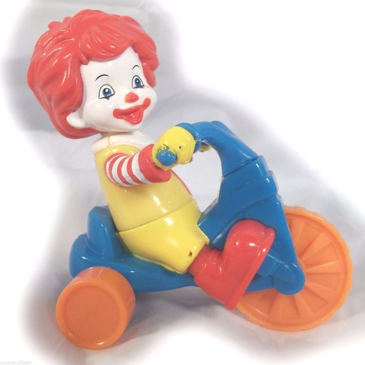 Baby Ronald McDonald Riding Bike Happy Meal Toy 2006 Big Wheel Trike McD's kid #McDonalds