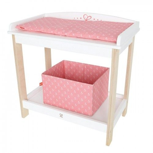 Hape - Baby Changing Table: A table just like yours encourages everyday role play Imagination & Creativity: Encourages imitative and imaginary play; promotes fantasy story telling, role playing, and creativity. Social Skills: The basics of communication, cooperation, and collaboration; encourages trust, friendship, and language development. #alltotstreasures #babychangetable #pretendplay #hapechangetable #roleplay #imaginaryplay