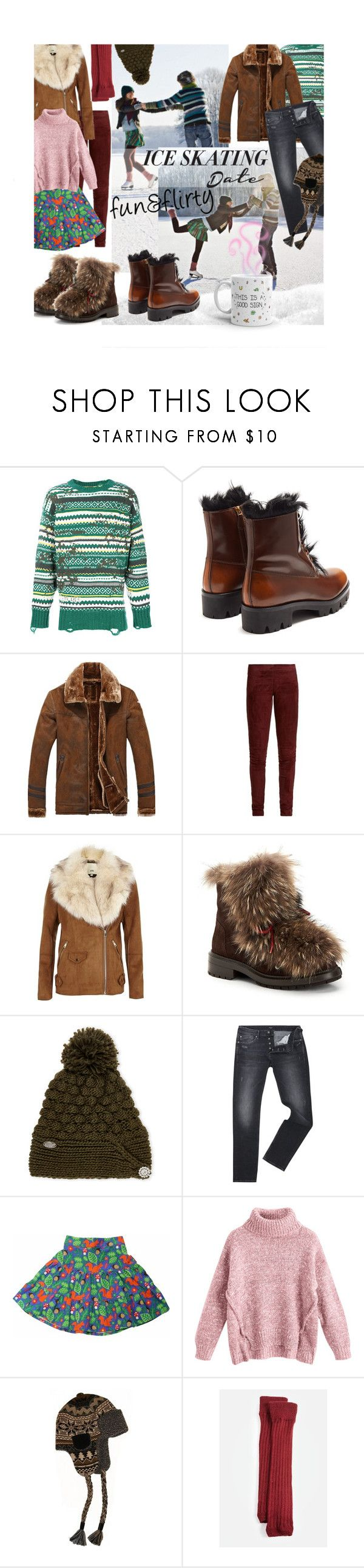 """fun & flirty date"" by mia-christine ❤ liked on Polyvore featuring Disney, Diesel, Prada, Joseph, River Island, Aquatalia by Marvin K., Turtle Fur, Pepe Jeans London, Toby Tiger and Muk Luks"