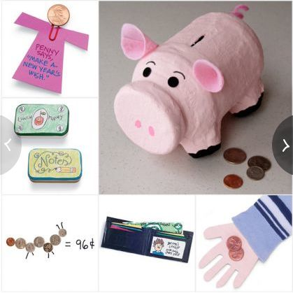 20 Crafts to teach your kids that Money Matters