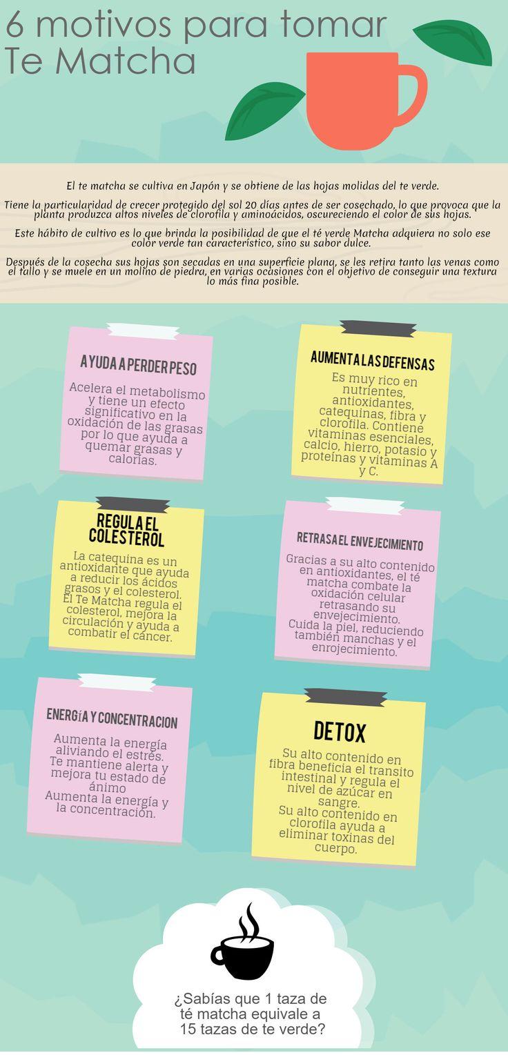 Propiedades y beneficios del Té Matcha #Infografía