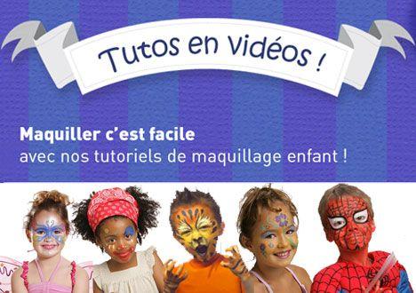 Maquiller c'est facile avec nos tutoriels de maquillage pour enfant !