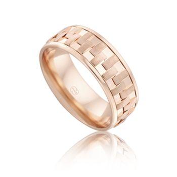 #PeterWBeck - J4168 #AustralianMade #WeddingRings #PinkGold