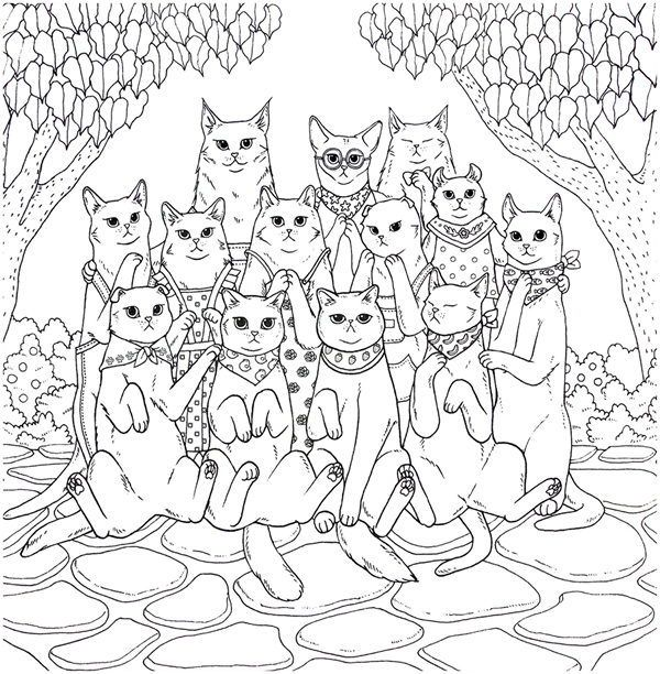 Cat Coloring Therapy Coloring Book Download Cat Coloring Book Coloring Books Cat Coloring Page