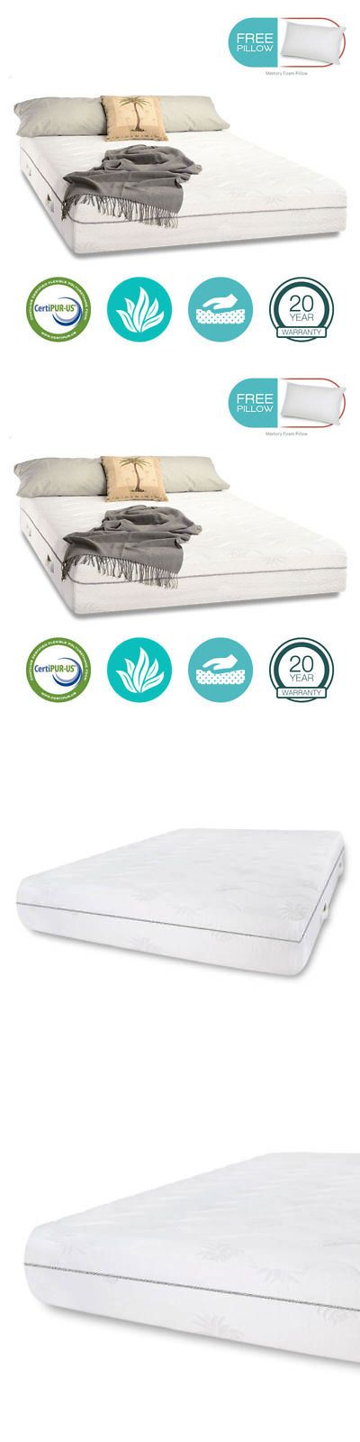 Mattresses 131588: 11 Twin Xl Cool Aloe Vera Gel Infused Memory Foam Mattress Free Pillow - Sale -> BUY IT NOW ONLY: $189.99 on eBay!