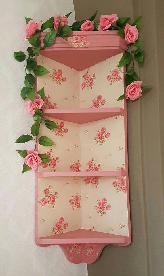 Check out this item in my Etsy shop https://www.etsy.com/uk/listing/475020001/dusky-pink-rose-corner-shelf-unit-shabby
