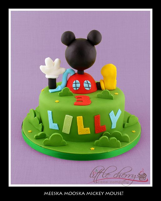 Meeska Mooska Mickey Mouse Clubhouse Cake! by Little Cherry Cake Company, via Flickr