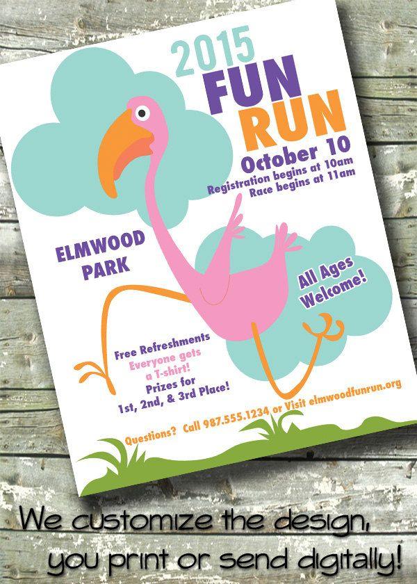 Fun Run Race ~ 5x7 Invite ~ 8.5x11 Flyer ~ 11x14 Poster ...