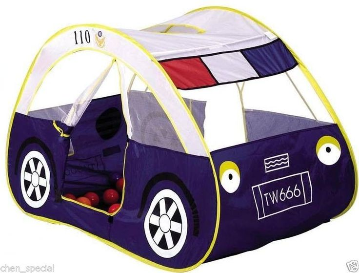 Kids Toddler Play Tent children baby large police car Hideaway pop out Xmas gift