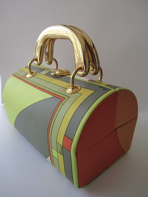 1960s - Vintage Pucci Handbag -- (The Sixties, purse, accessories, style, fashion)