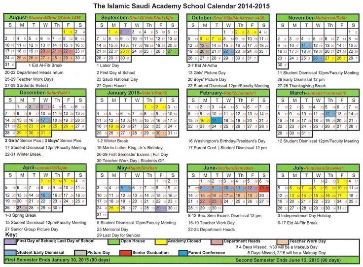 Super Más de 25 ideas increíbles sobre Calendario islámico 2015 en  LF45